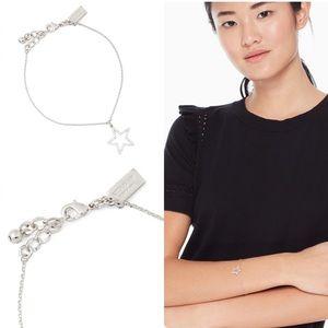 Kate Spade scrunched scallops pave star bracelet